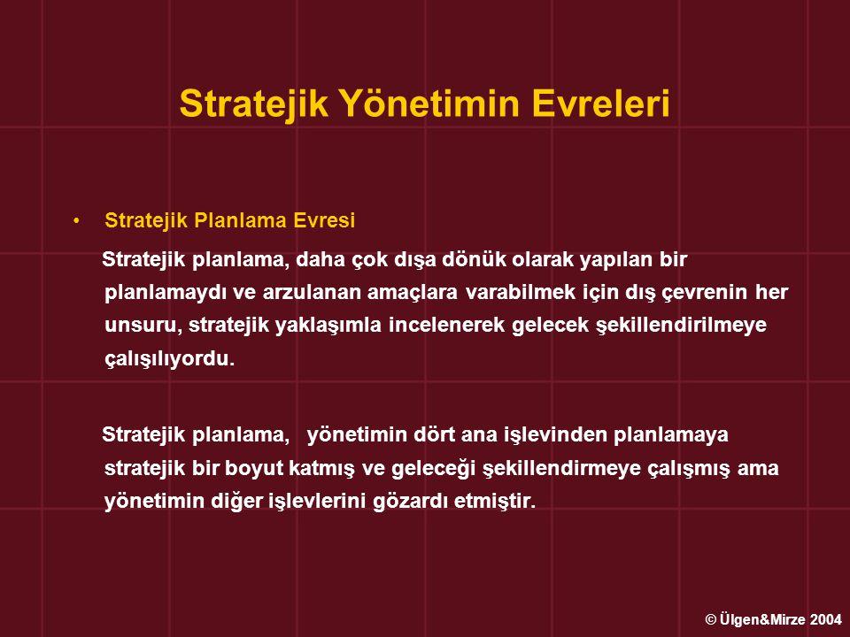 Stratejik Yönetimin Evreleri