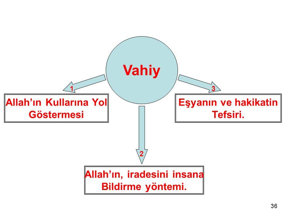 Allah'ın Kullarına Yol Allah'ın, iradesini insana