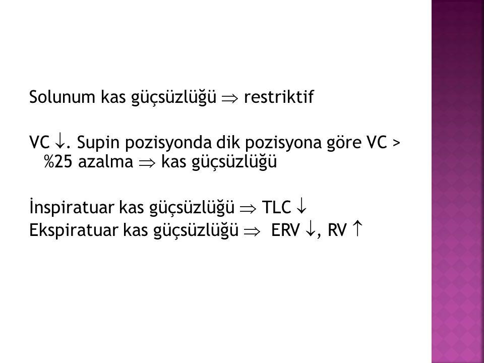 Solunum kas güçsüzlüğü  restriktif VC 