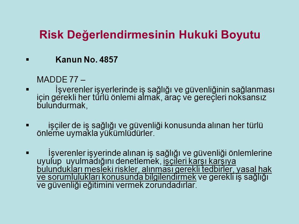 Risk Değerlendirmesinin Hukuki Boyutu