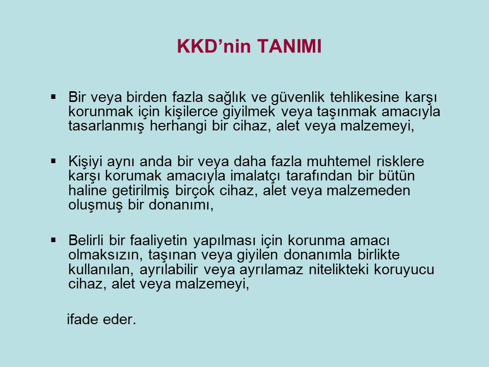 KKD'nin TANIMI