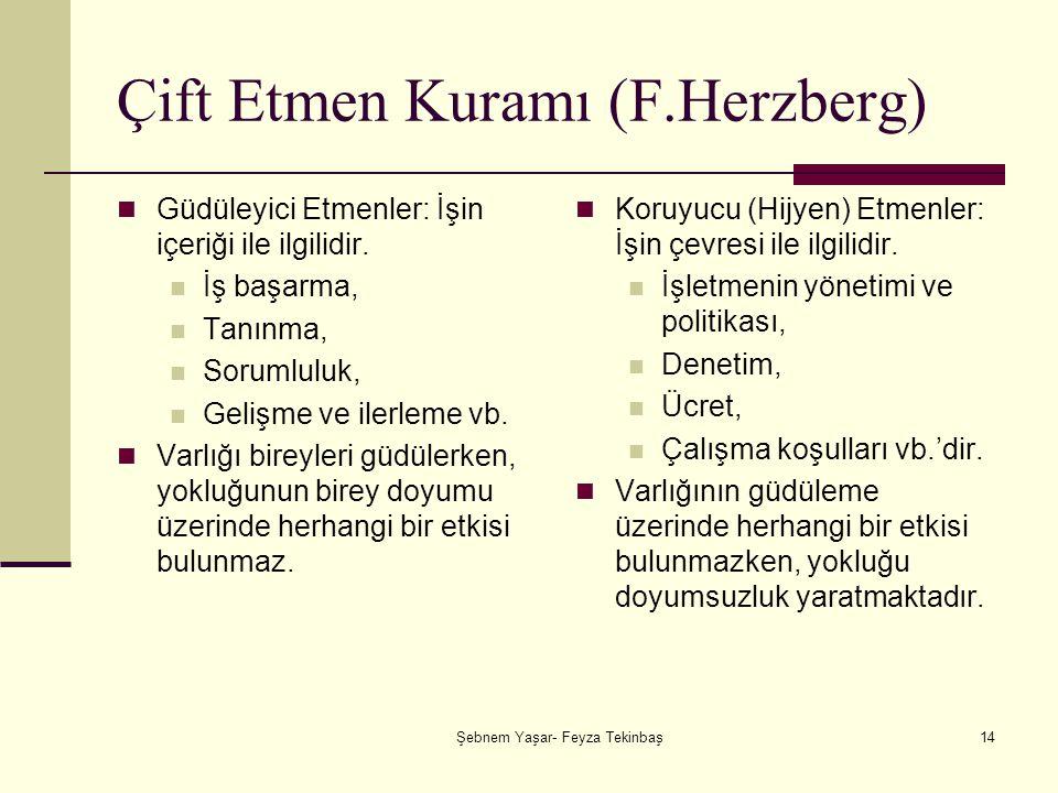 Çift Etmen Kuramı (F.Herzberg)