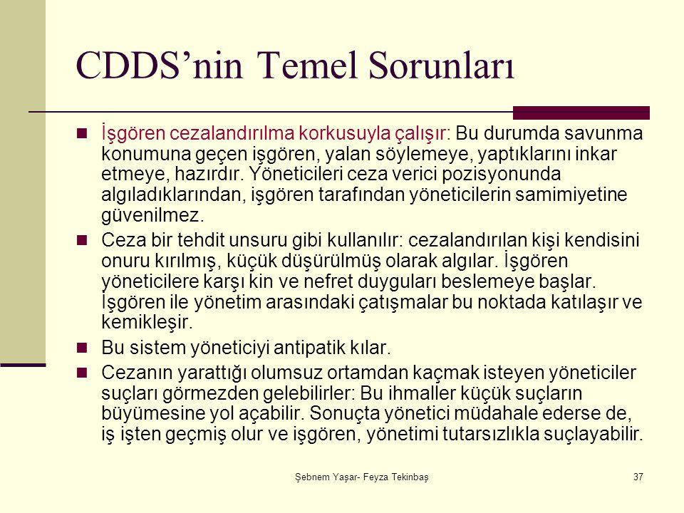 CDDS'nin Temel Sorunları