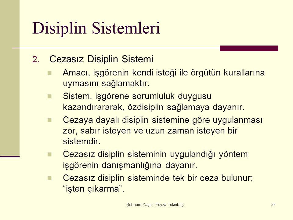 Şebnem Yaşar- Feyza Tekinbaş