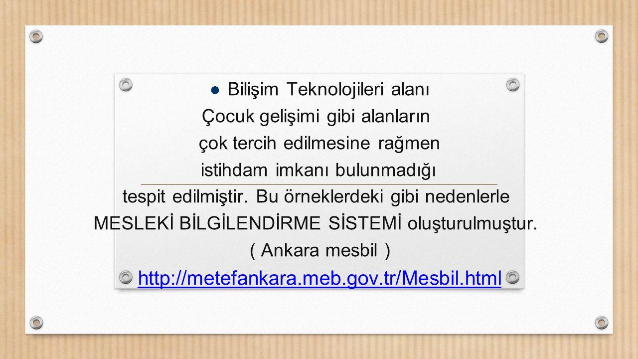 http://metefankara.meb.gov.tr/Mesbil.html Bilişim Teknolojileri alanı