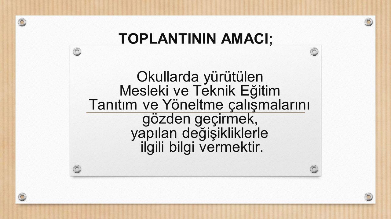 TOPLANTININ AMACI;