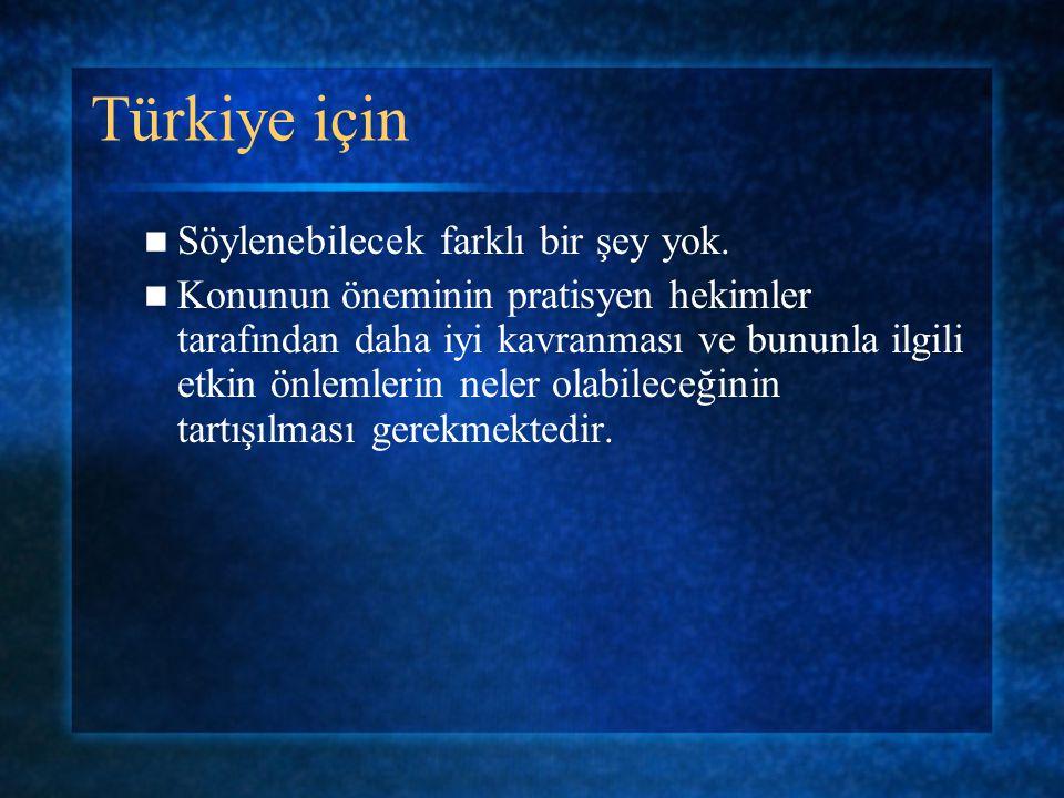 Türkiye için Söylenebilecek farklı bir şey yok.