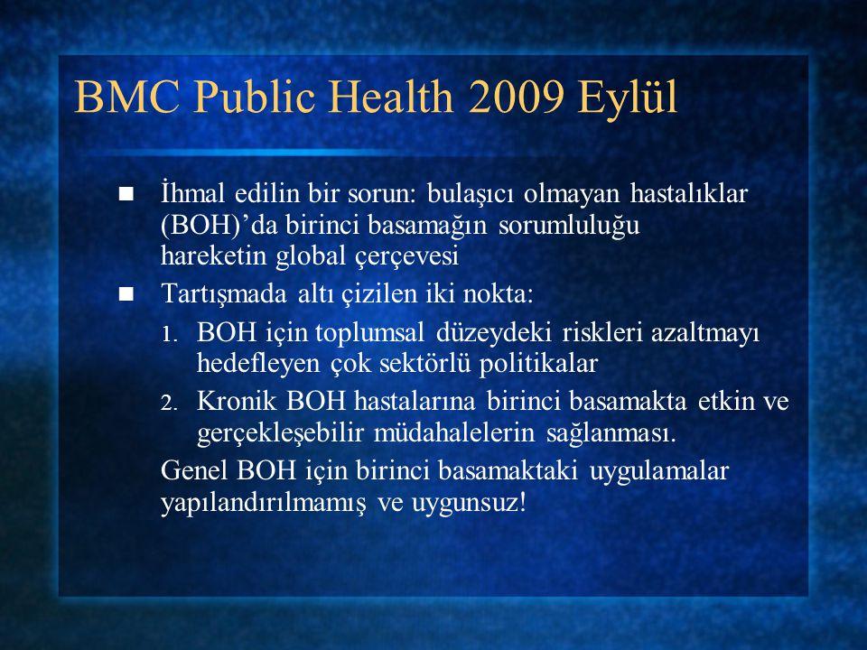 BMC Public Health 2009 Eylül