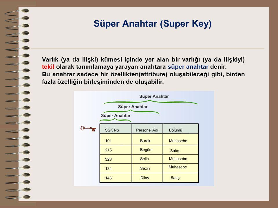 Süper Anahtar (Super Key)