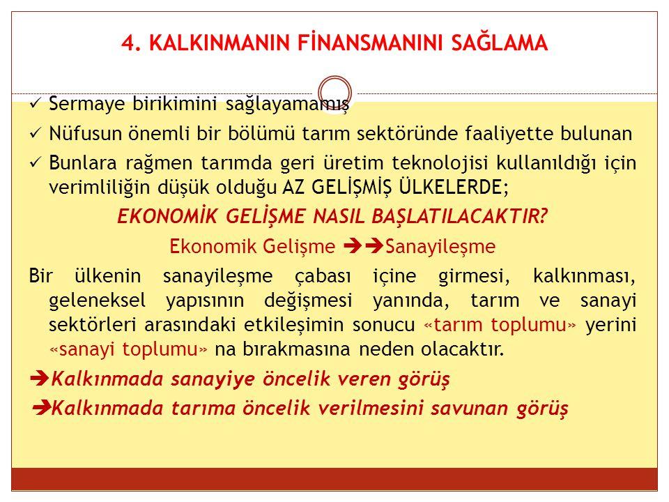 4. KALKINMANIN FİNANSMANINI SAĞLAMA
