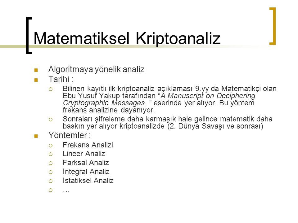 Matematiksel Kriptoanaliz