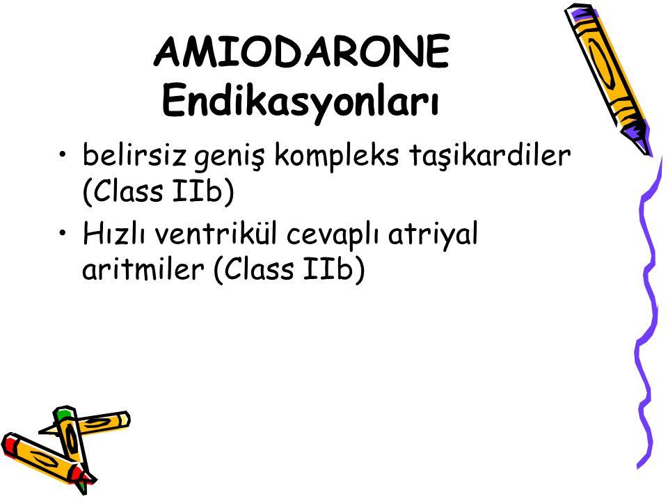 AMIODARONE Endikasyonları