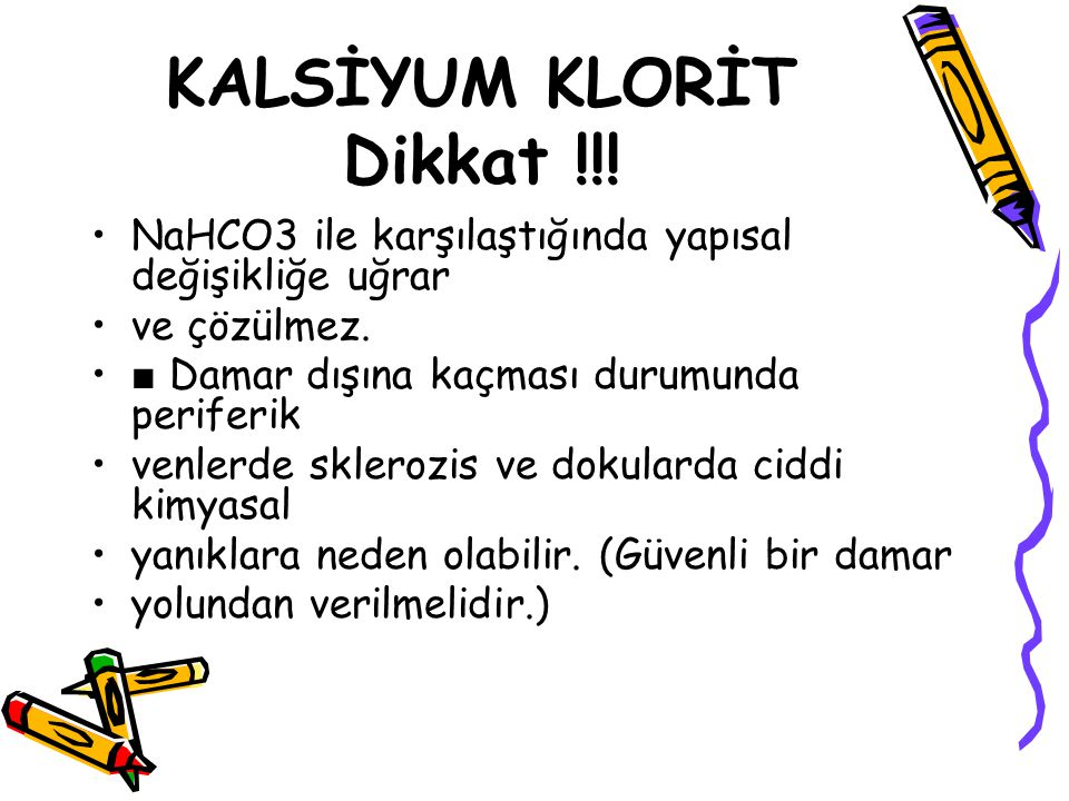 KALSİYUM KLORİT Dikkat !!!
