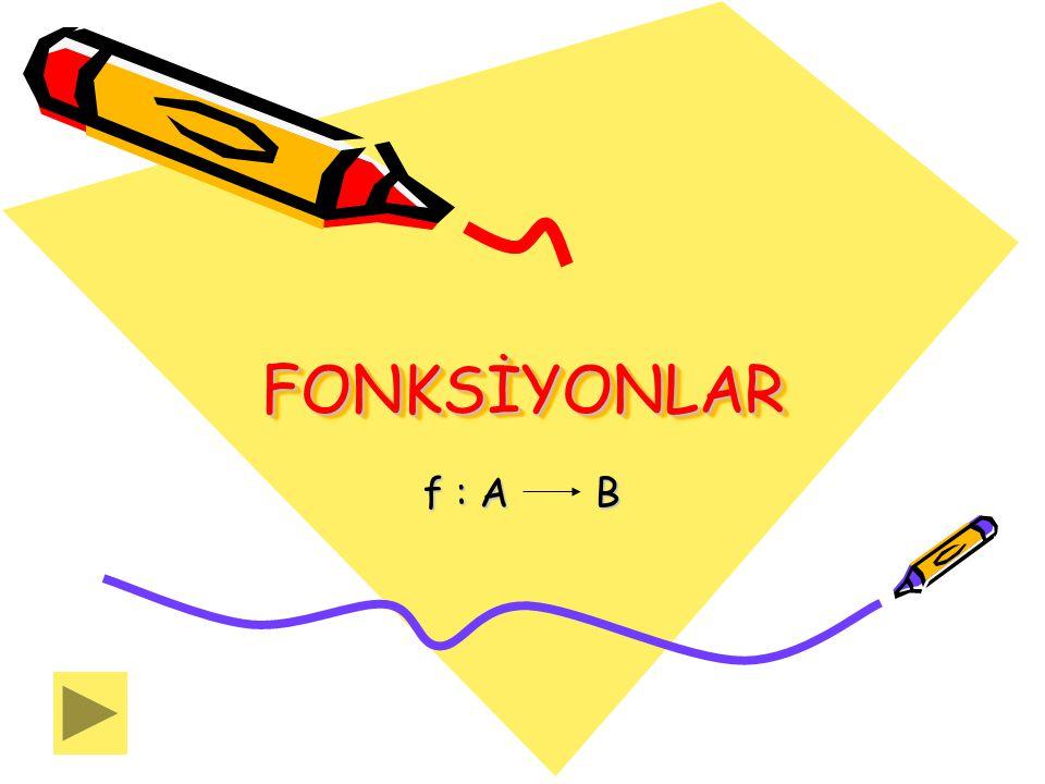 FONKSİYONLAR f : A B