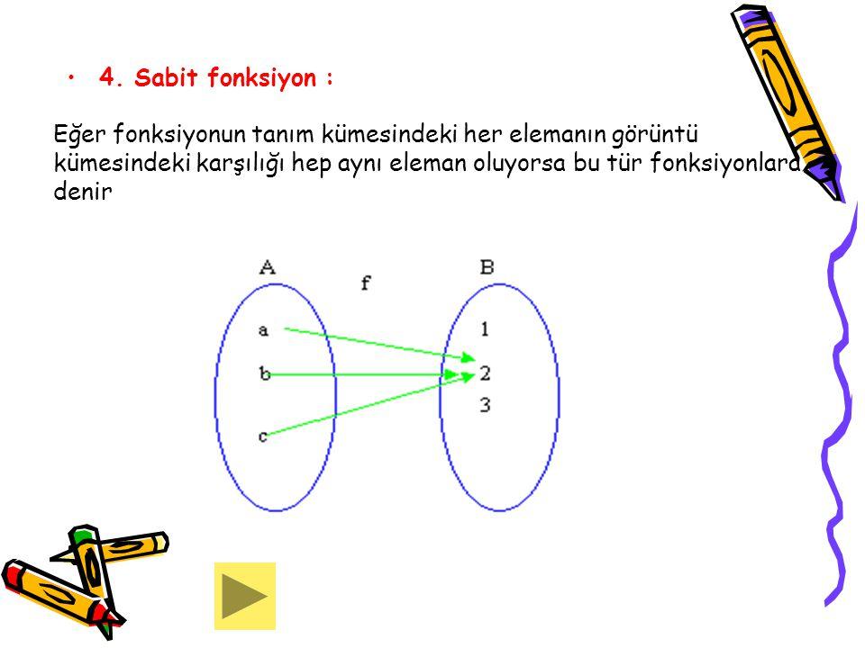 4. Sabit fonksiyon :