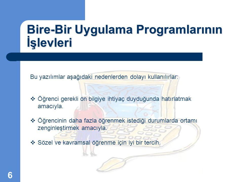 Bire-Bir Uygulama Programlarının İşlevleri