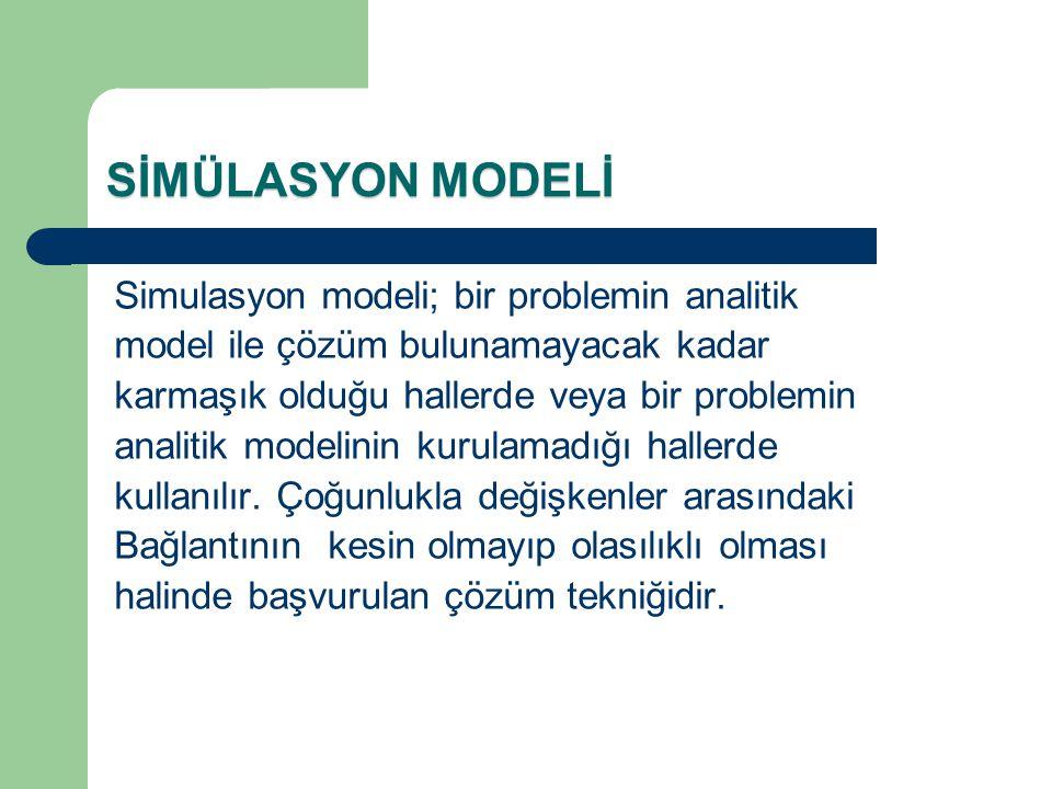 SİMÜLASYON MODELİ