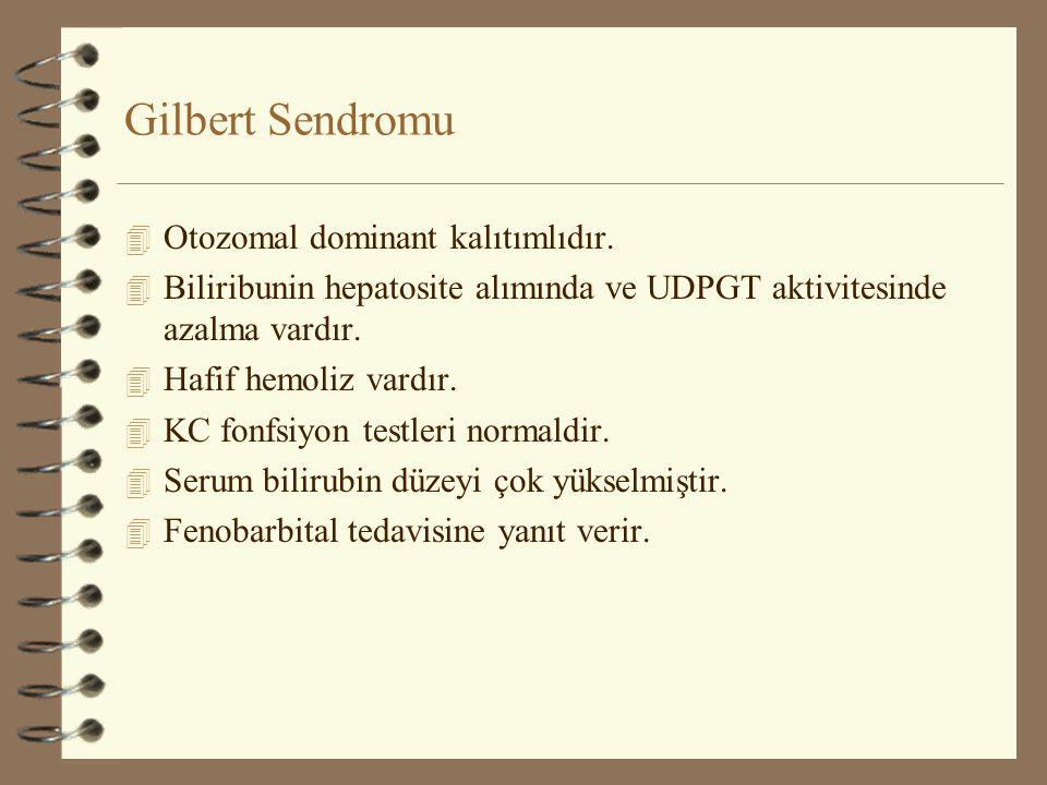 Gilbert Sendromu Otozomal dominant kalıtımlıdır.