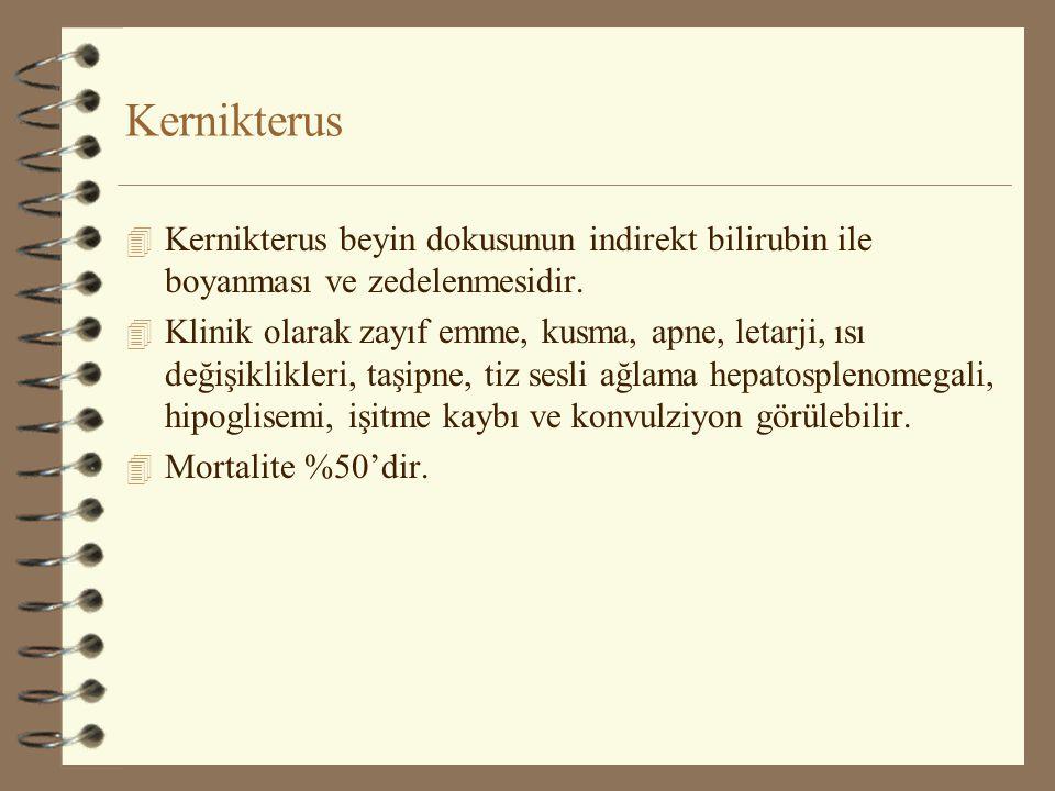 Kernikterus Kernikterus beyin dokusunun indirekt bilirubin ile boyanması ve zedelenmesidir.