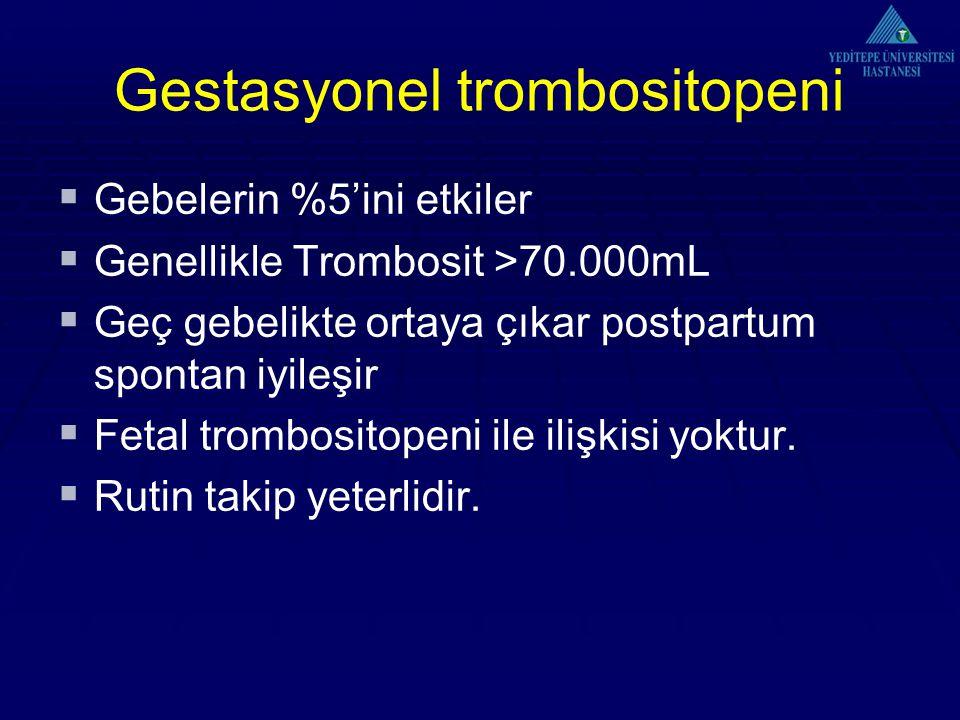 Gestasyonel trombositopeni