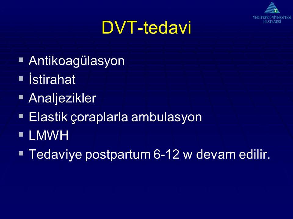 DVT-tedavi Antikoagülasyon İstirahat Analjezikler
