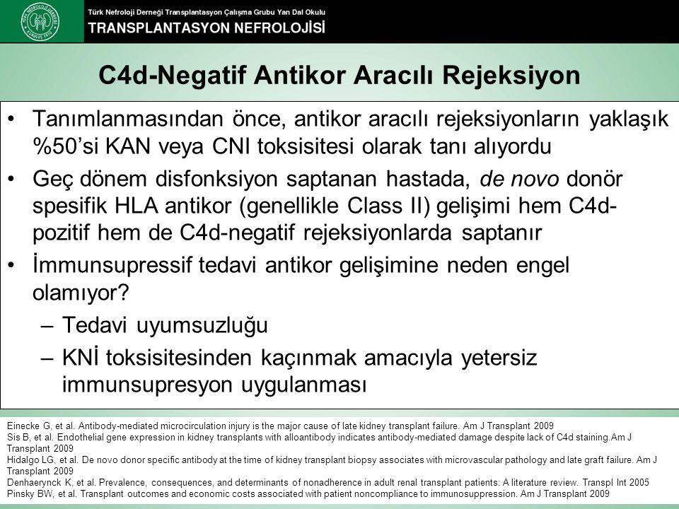 C4d-Negatif Antikor Aracılı Rejeksiyon