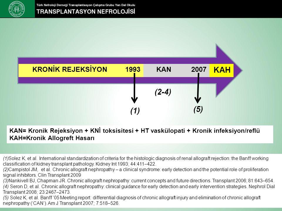 KAH (2-4) (5) (1) KRONİK REJEKSİYON 1993 KAN 2007
