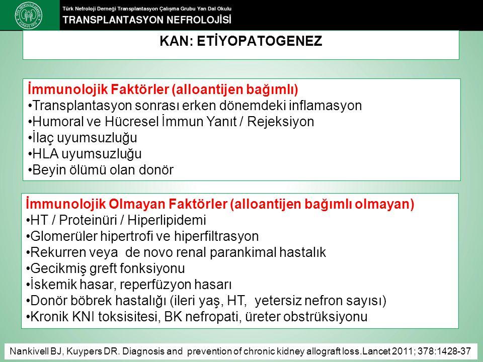 İmmunolojik Faktörler (alloantijen bağımlı)