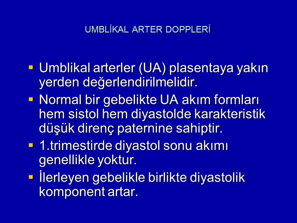 UMBLİKAL ARTER DOPPLERİ