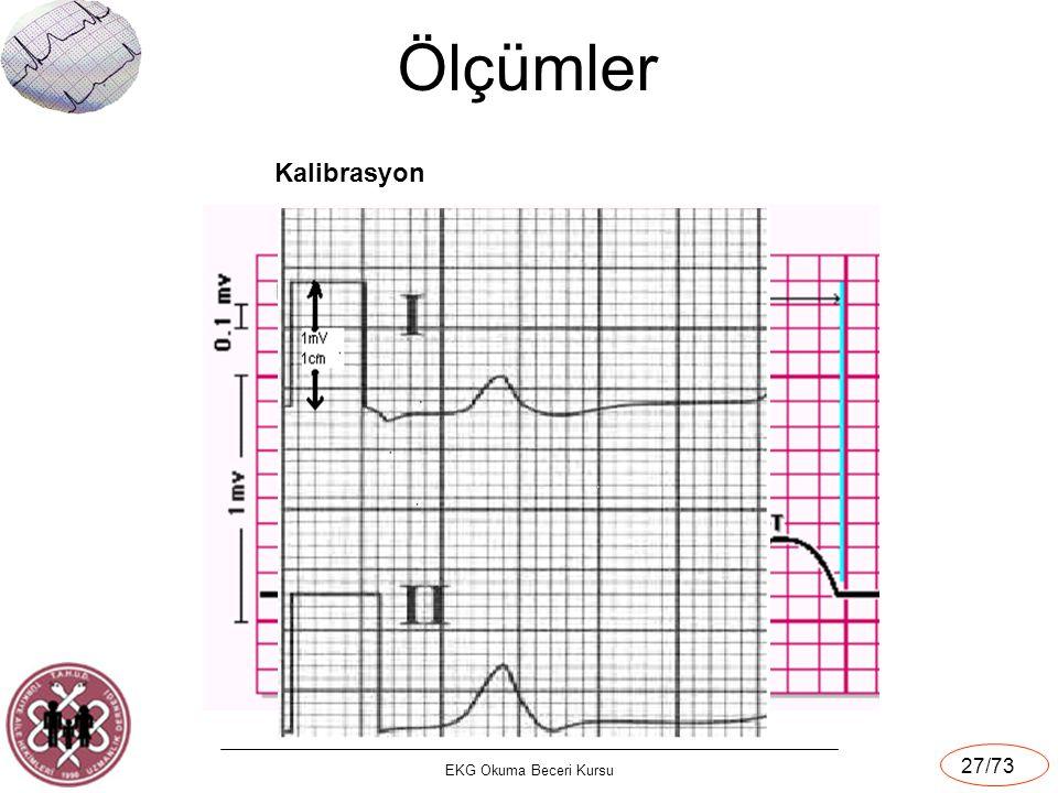 Ölçümler Kalibrasyon EKG Okuma Beceri Kursu