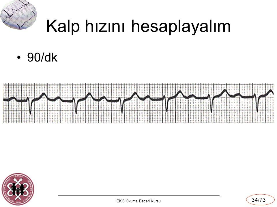 Kalp hızını hesaplayalım