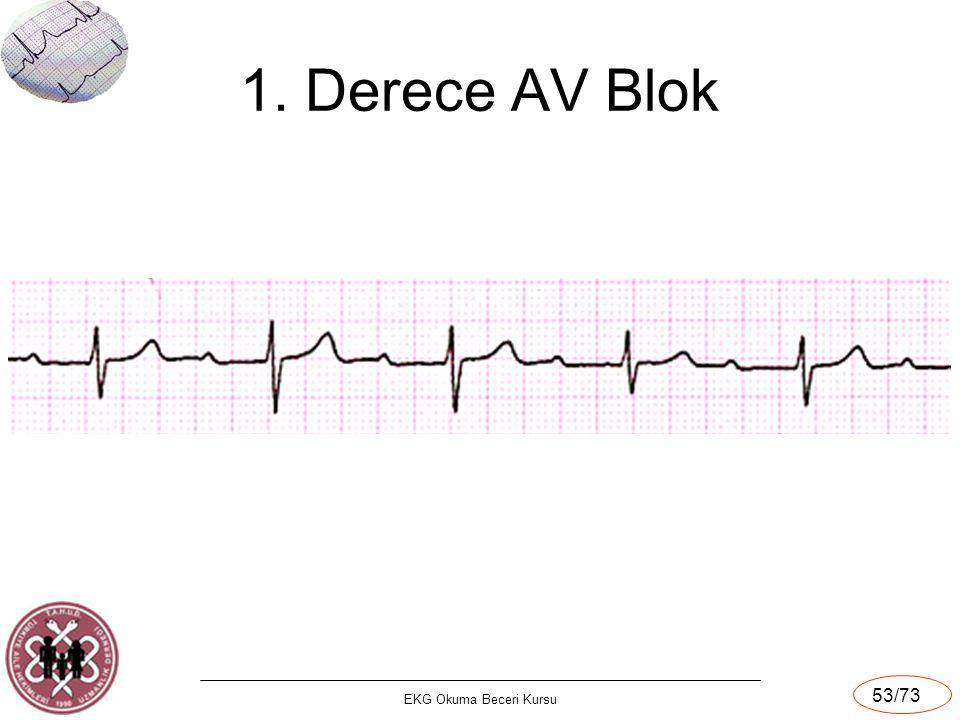 1. Derece AV Blok EKG Okuma Beceri Kursu