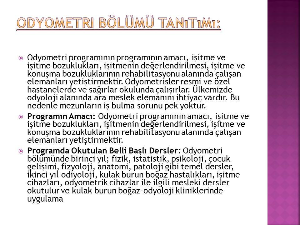 Odyometri Bölümü Tanıtımı:
