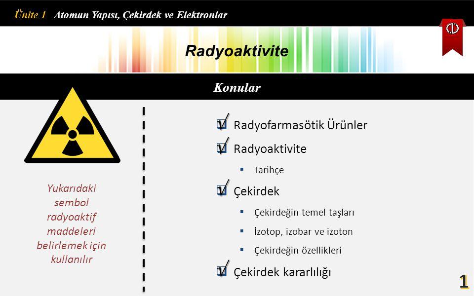 Yukarıdaki sembol radyoaktif maddeleri belirlemek için kullanılır
