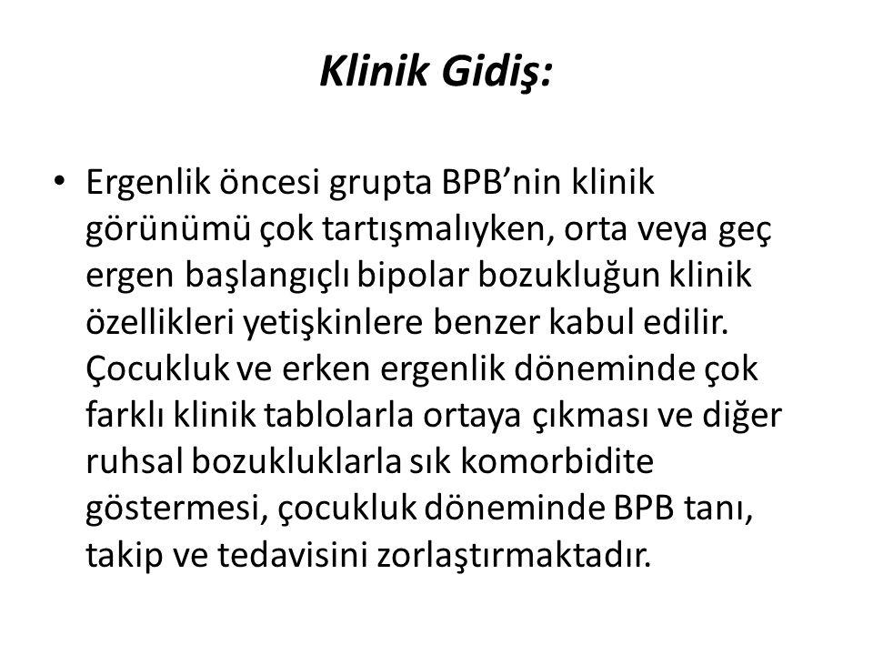 Klinik Gidiş: