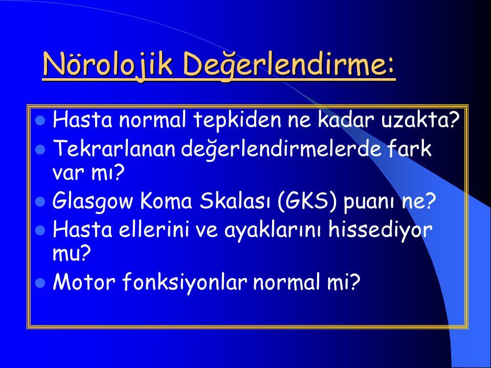 Nörolojik Değerlendirme: