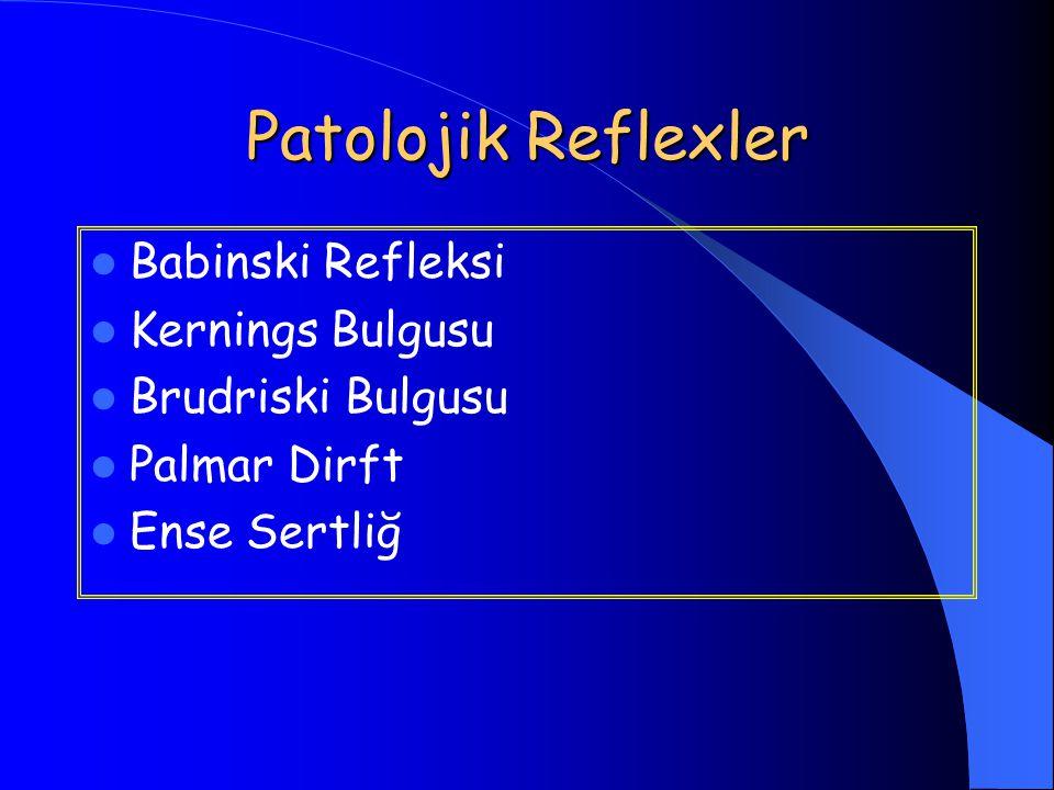 Patolojik Reflexler Babinski Refleksi Kernings Bulgusu
