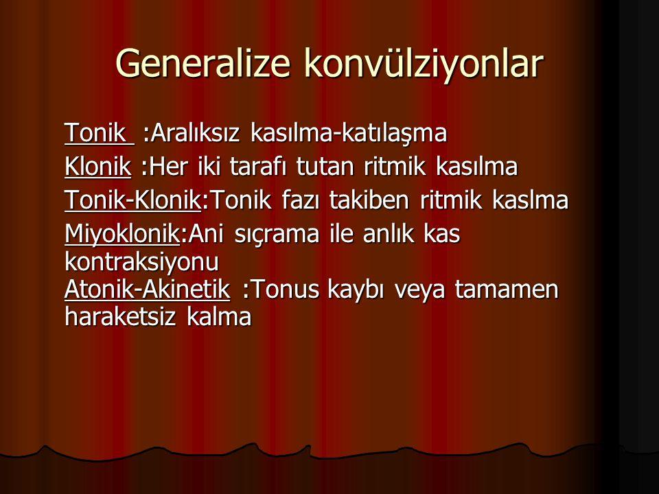 Generalize konvülziyonlar