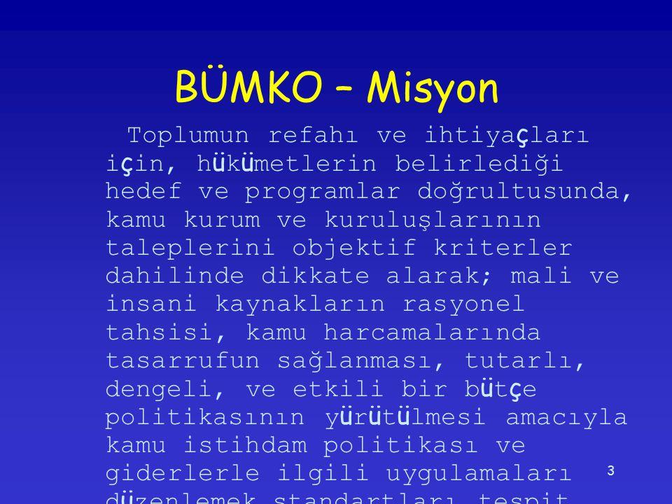 BÜMKO – Misyon