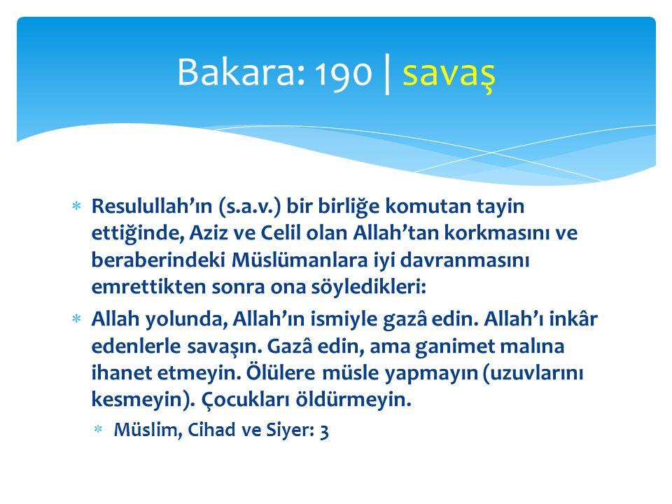 Bakara: 190 | savaş