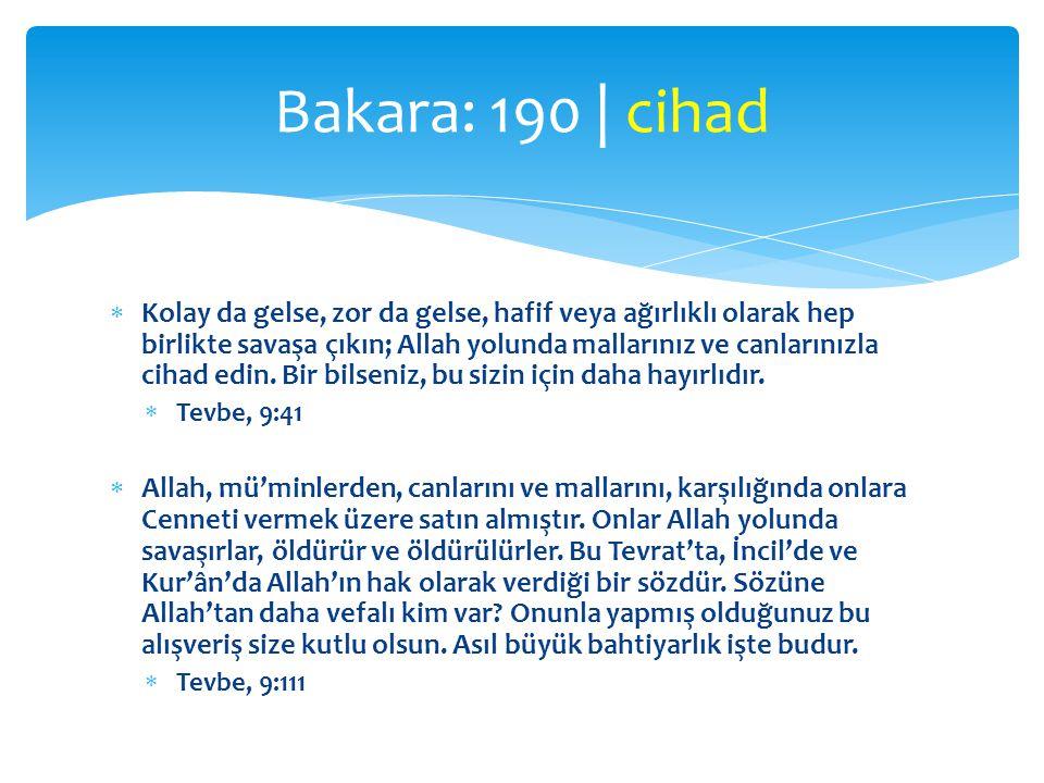 Bakara: 190 | cihad