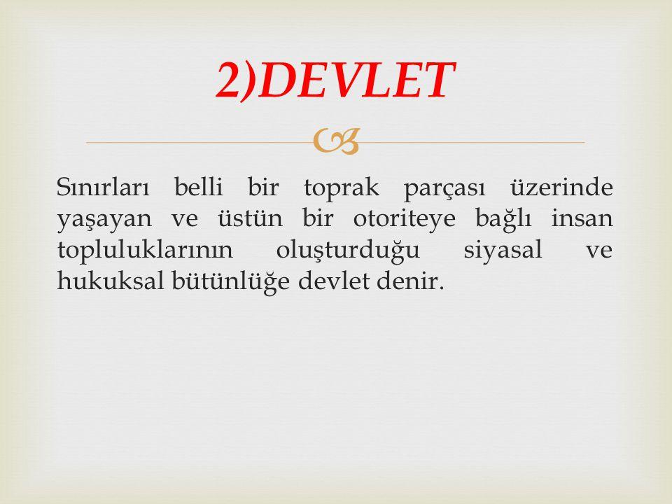 2)DEVLET