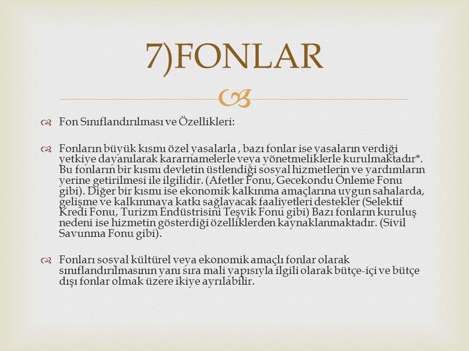 7)FONLAR Fon Sınıflandırılması ve Özellikleri: