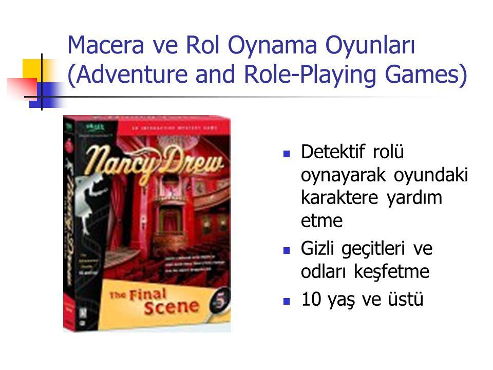 Macera ve Rol Oynama Oyunları (Adventure and Role-Playing Games)