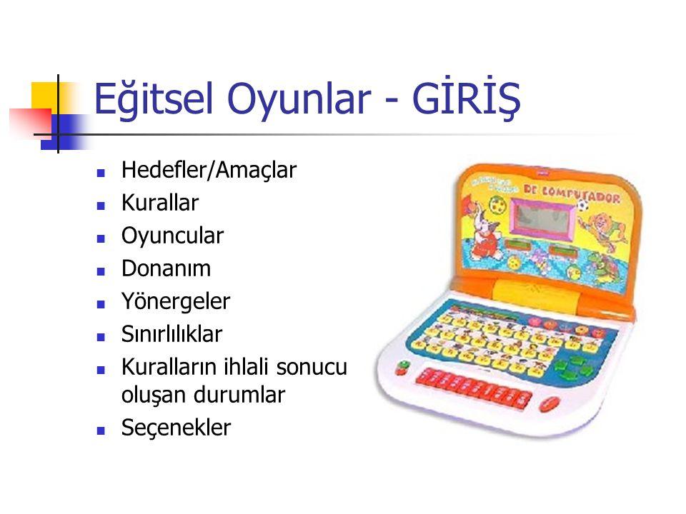 Eğitsel Oyunlar - GİRİŞ