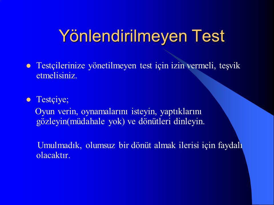 Yönlendirilmeyen Test