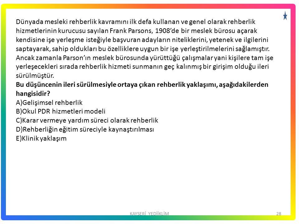 Okul PDR hizmetleri modeli