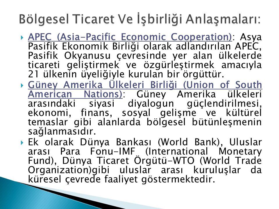 Bölgesel Ticaret Ve İşbirliği Anlaşmaları: