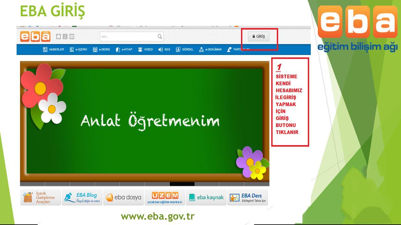 EBA GİRİŞ www.eba.gov.tr