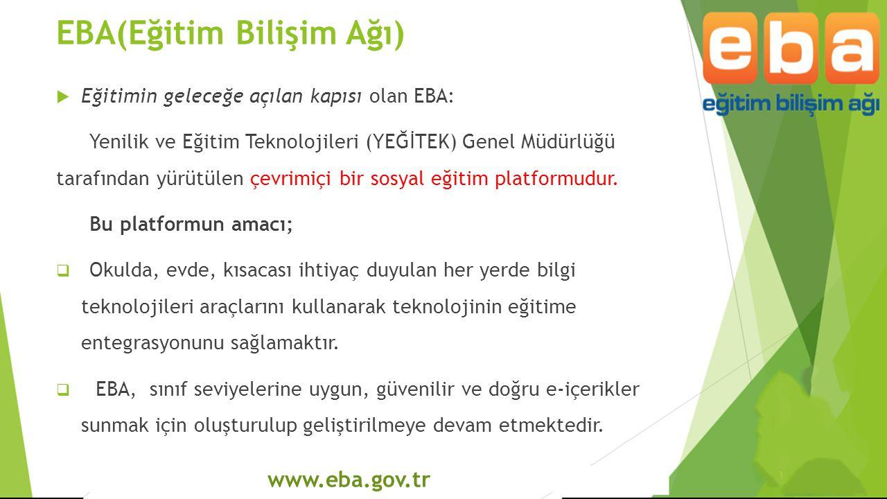 EBA(Eğitim Bilişim Ağı)